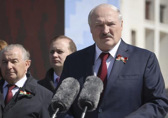 27년째 집권 중인 벨라루스 루카셴코 대통령. [AP=연합뉴스]