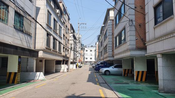서울 송파구의 한 다세대ㆍ다가구 동네의 모습.         사진 한은화 기자