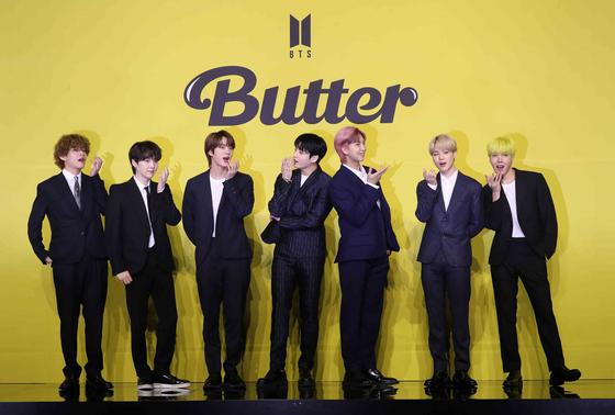 방탄소년단이 21일 새 디지털 싱글 'Butter'를 발표했다. 김상선 기자