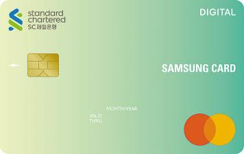 삼성카드와 SC제일은행은 비대면 소비 트렌드에 맞춘 'SC제일은행 디지털 삼성카드'와 'SC제일은행 드라이브 삼성카드' 2종을 출시했다.  [사진 삼성카드]