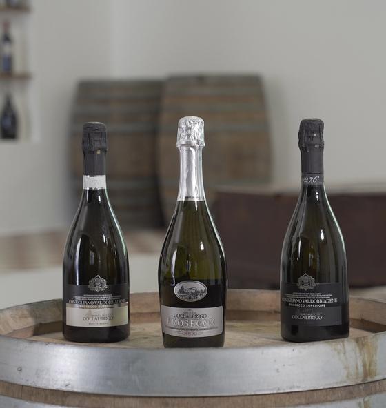 나라셀라가 국내 출시한 이탈리안 스파클링 와인의 최고봉 '콜라브리고' 와인 3종. [사진 나라셀라]