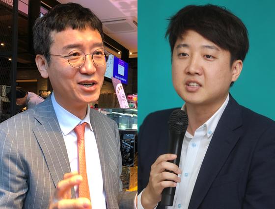김웅 국민의힘 의원(왼쪽)과 이준석 전 최고위원. 연합뉴스