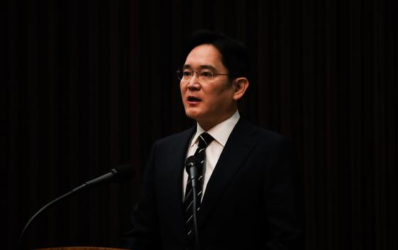 이재용 삼성전자 부회장이 지난해 5월 서울 서초동 삼성사옥에서 경영권 승계 및 노동조합 문제 등과 관련해 '대국민 사과문'을 발표를 하고 있다. 장진영 기자