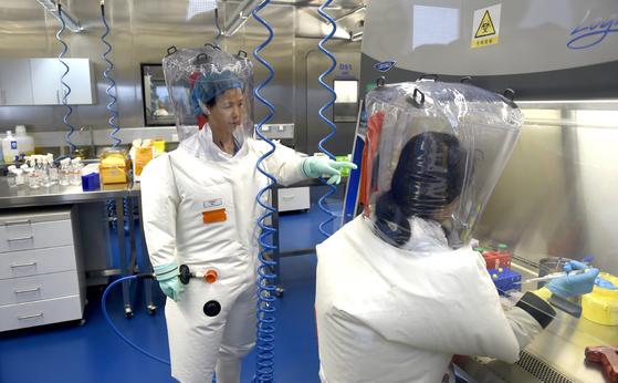 중국 우한의 바이러스 연구소. [AP=연합뉴스]