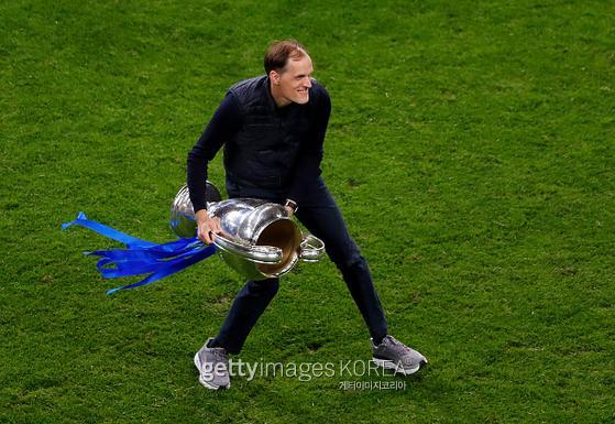Chelsea coach Thomas Tuchel.  Photo = Getty Images