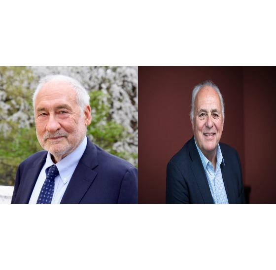세계의 석학도 돌봄 경제에 투자해야 한다고 입을 모았다. 사진은 조셉 스티글리츠(왼쪽)와 마크 말록 브라운. 제공 서울대 국제이주와 포용센터