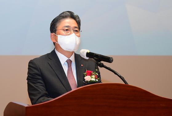 1일 정승일 한국전력 사장이 나주 한전 본사에서 취임식을 가졌다. 한국전력