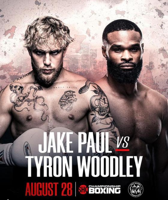 유튜버 제이크 폴(왼쪽)이 UFC 전 챔피언 타이론 우들리와 복싱 대결을 벌인다. [사진 제이크 폴 인스타그램]