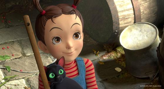 지브리 최초 풀 3D 컴퓨터그래픽(CG)에 도전한 애니메이션 '아야와 마녀'. [사진 리틀빅픽처스]