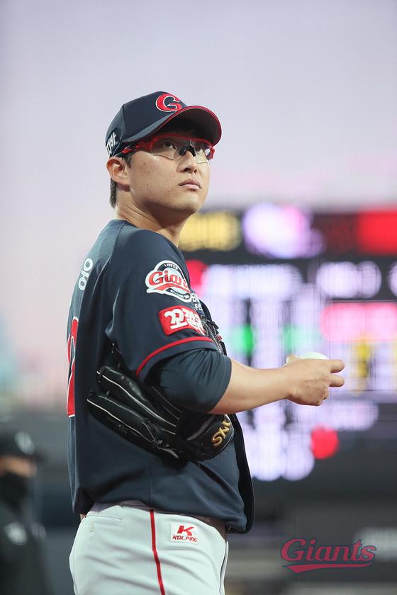 4일 수원 KT전에서 생애 첫 완봉승을 거둔 롯데 자이언츠 박세웅. [사진 롯데]