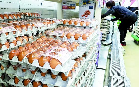 특란 30개 소비자가격이 지난 1월 7000원대로 오른 이후 좀처럼 내려가지 않고 있다. [연합뉴스]