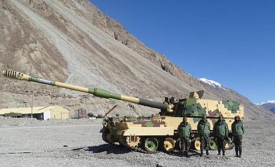 인도 육군이 지난달 라다크에 배치한 자주포 K9 바즈라. 인디언 디펜스 뉴스