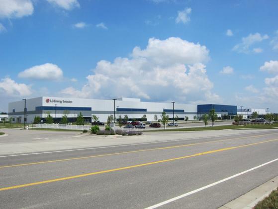 LG에너지솔루션 미국 미시간주 전기차 배터리 공장. [사진 LG에너지솔루션]