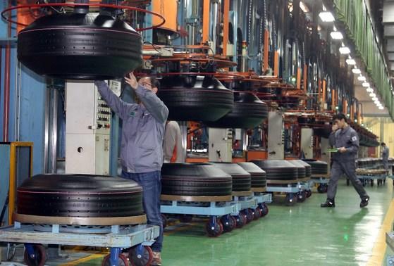 한국타이어 공장. 사진 한국타이어