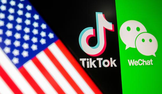 조 바이든 미국 대통령은 9일(현지시간) 도널드 트럼프 전 대통령이 서명한 중국 앱 틱톡과 위챗 사용 금지 행정명령을 철회했다. [로이터=연합뉴스]
