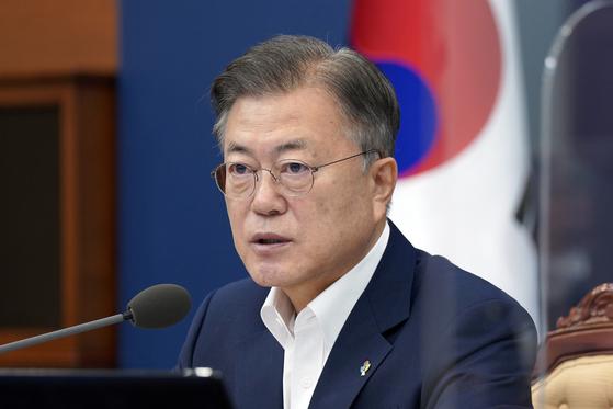 문재인 대통령이 지난 8일 오전 청와대에서 열린 국무회의에서 발언하고 있다. 연합뉴스