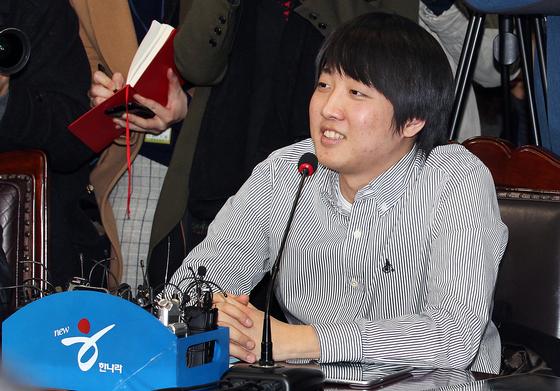 2011년 12월 27일 서울 여의도 한나라 당사에서 열린 첫 비상대책위원회 회의에 참석한 이준석 비대위원. 중앙포토