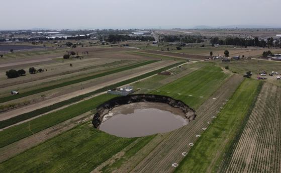 멕시코에서 생긴 거대한 싱크홀. AP=연합뉴스