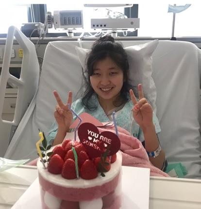 심장중환자실 의료진이 열어준 이희선씨의 생일 파티. 사진 이대서울병원 제공