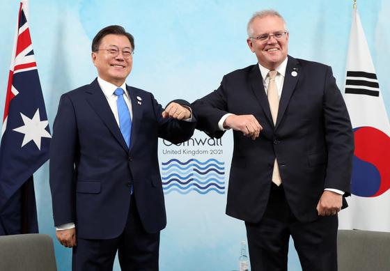 文대통령, 韓·호주 정상회담…저탄소기술 등 경제협력 확대