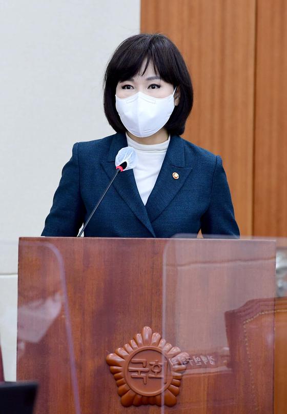 전현희 국민권익위원장이 지난 3월 17일 서울 여의도 국회에서 열린 정무위원회 전체회의에서 발언하고 있다. 오종택 기자