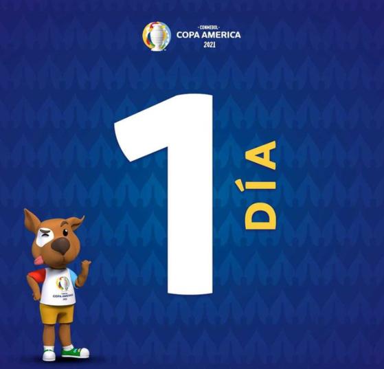 2021 코파 아메리카 개막을 하루 앞두고 개막전에 나설 베네수엘라 대표팀에서 무더기 코로나19 확진자가 나왔다. [사진 코파 아메리카 인스타그램]