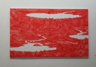 베른 현대미술관에 전시된 이세현 작가의 ' Bwtween Red-33', 2007 [초이앤 라거 갤러리]