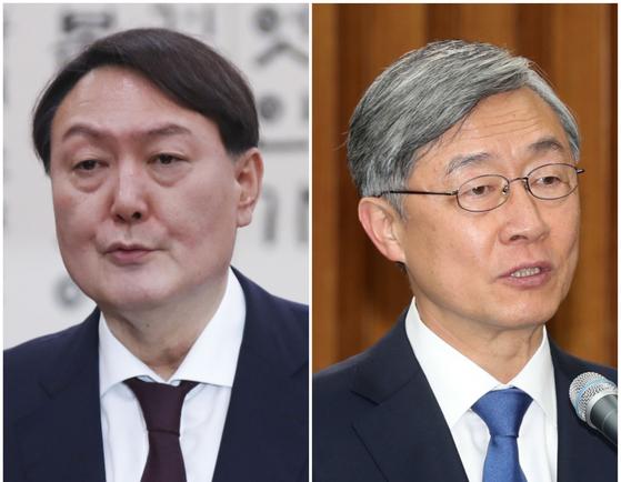 윤석열(왼쪽) 전 검찰총장과 최재형 감사원장. 중앙포토
