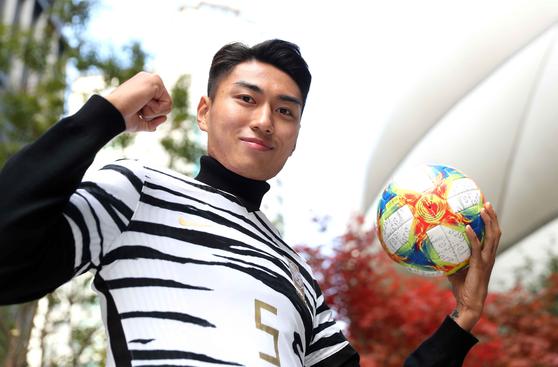 김학범호 센터백 정태욱이 가나를 상대로 공수에서 맹활약했다. 김상선 기자