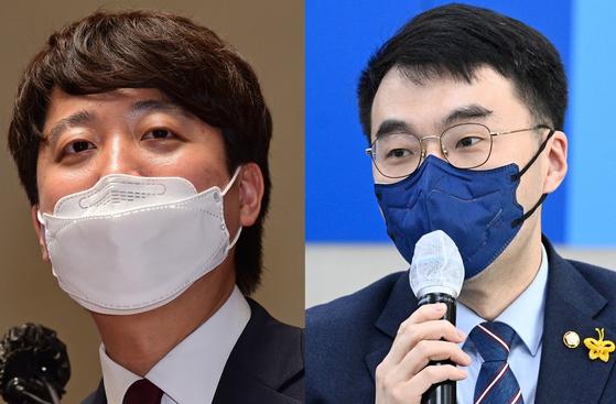이준석 국민의힘 당대표(왼쪽)와 김남국 더불어민주당 의원. 뉴스1