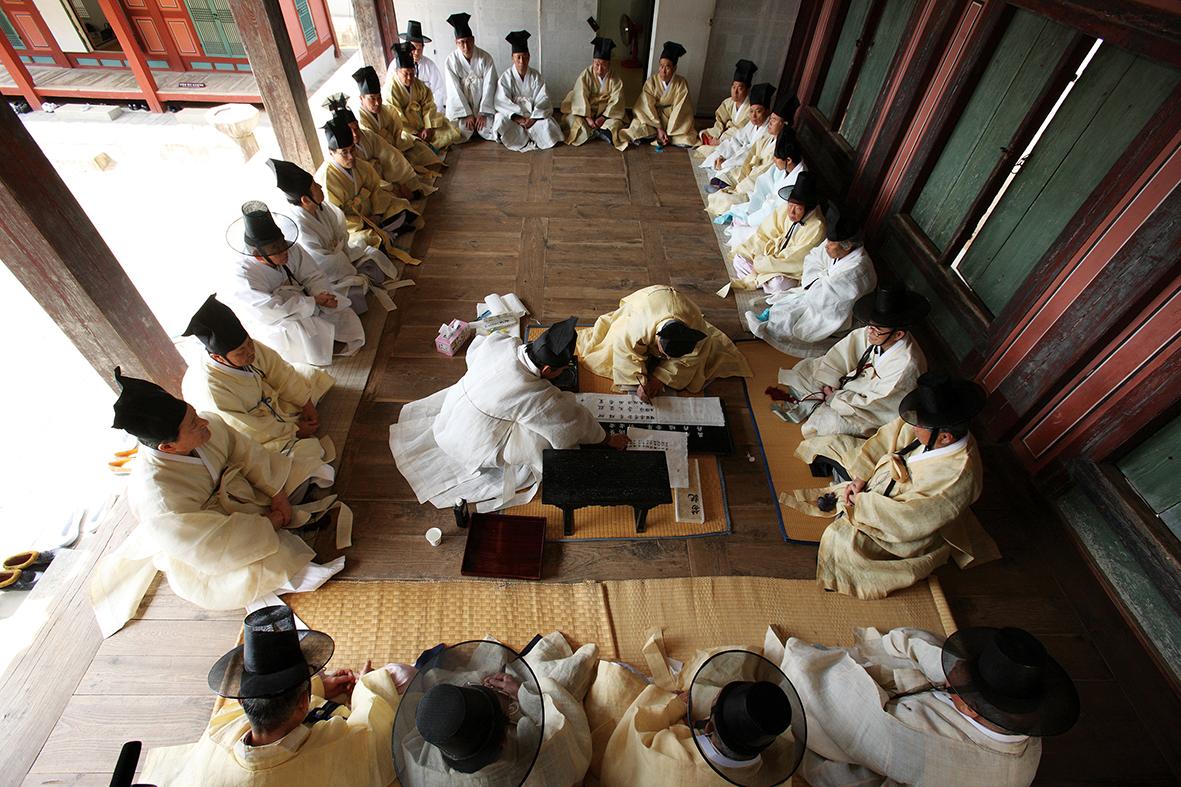 2011년 3월 이동춘 작가가 촬영한 도산서원 향사례/ 이동춘 작가 제공