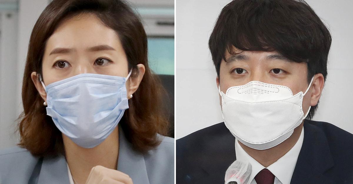 고민정 더불어민주당 의원(왼쪽)과 이준석 국민의힘 대표. 연합뉴스·뉴스1