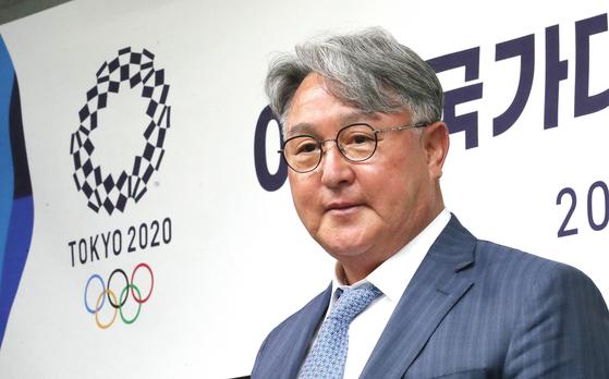 도쿄올림픽 최종 엔트리를 발표한 김경문 야구대표팀 감독 [뉴스1]