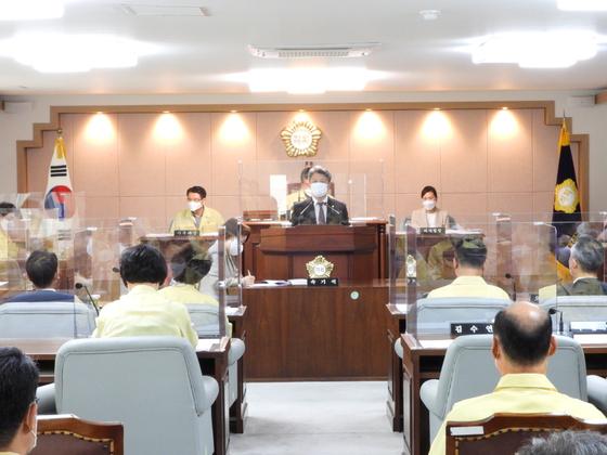 16일 열린 대전 대덕구의회 본회의에서 김수연 의원이 발언하고 있다. 사진 대덕구의회