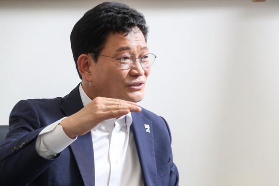 송영길 더불어민주당 대표. 우상조 기자