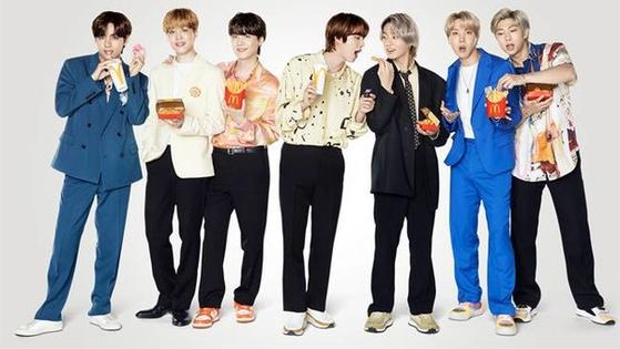 BTS의 맥도날드 BTS세트 광고 화보 컷