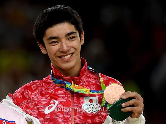 2016 리우데자네이루 올림픽에서 기계체조 남자 도마 동메달을 거머쥔 시라이 겐조(일본). 사진=게티이미지