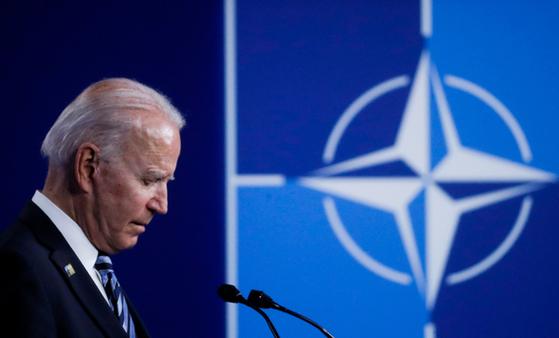 북대서양조약기구(나토) 정상회의에 참석한 조 바이든 미국 대통령 [AP=연합뉴스]