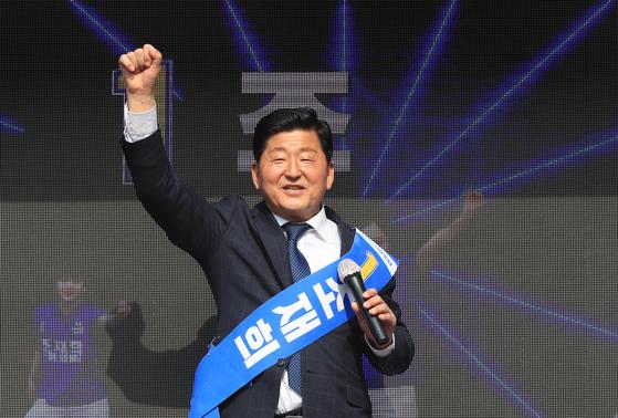 지난해 서울 송파갑에 더불어민주당 후보로 출마했던 조재희 한국폴리텍대 이사장. 뉴스1