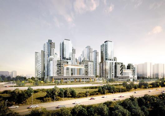 신반포3차·경남아파트 재건축 아파트인 래미안 원베일리 투시도. 한강변에 들어서는 대단지로 입지여건이 좋다.