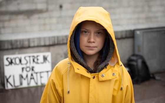스웨덴 출신의 세계적인 환경운동가 그레타 툰베리의 성장 여정을 그린 다큐 '그레타 툰베리'. [사진 영화사 진진]