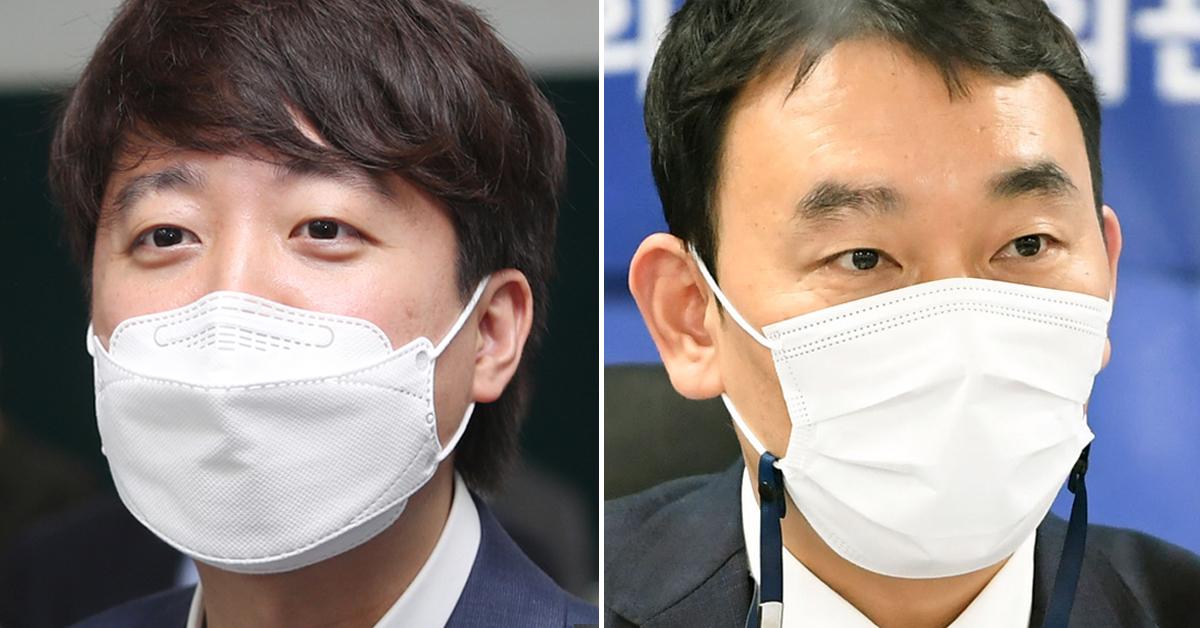 이준석 국민의힘 대표(왼쪽)와 김용민 더불어민주당 최고위원. 연합뉴스