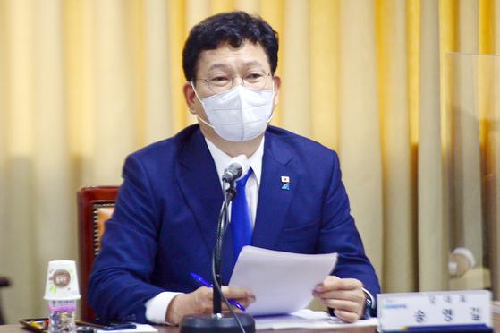 텃밭에 난 불 급했나…'의총 대전' 앞두고 광주 찾은 송영길