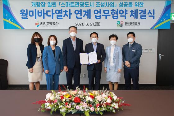 인천관광공사-인천교통공사, 스마트관광도시와 월미바다열차 연계 협력 업무협약