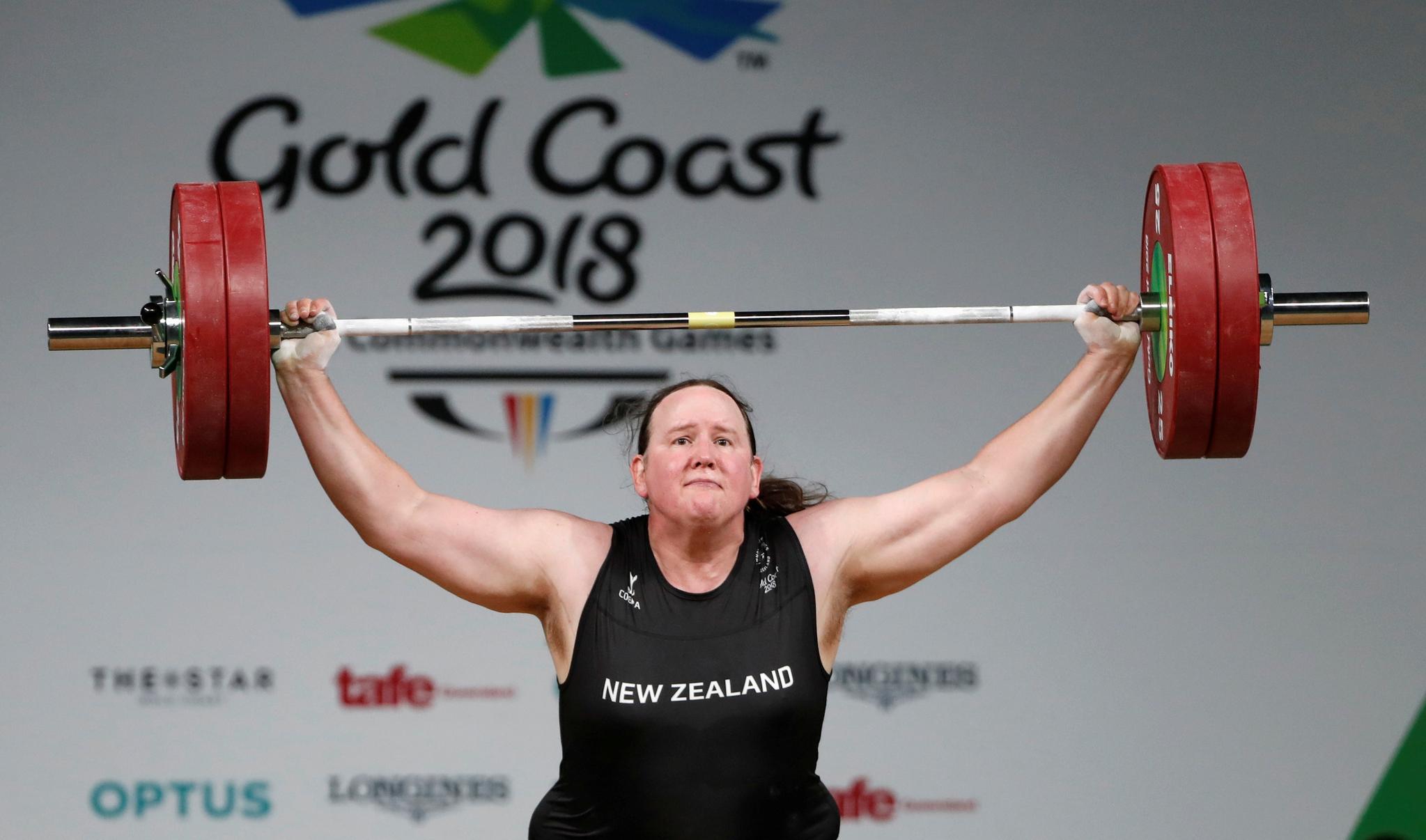 성전환 선수 최초로 올림픽에 출전하게 된 뉴질랜드 역도선수 허버드. [로이터=연합뉴스]
