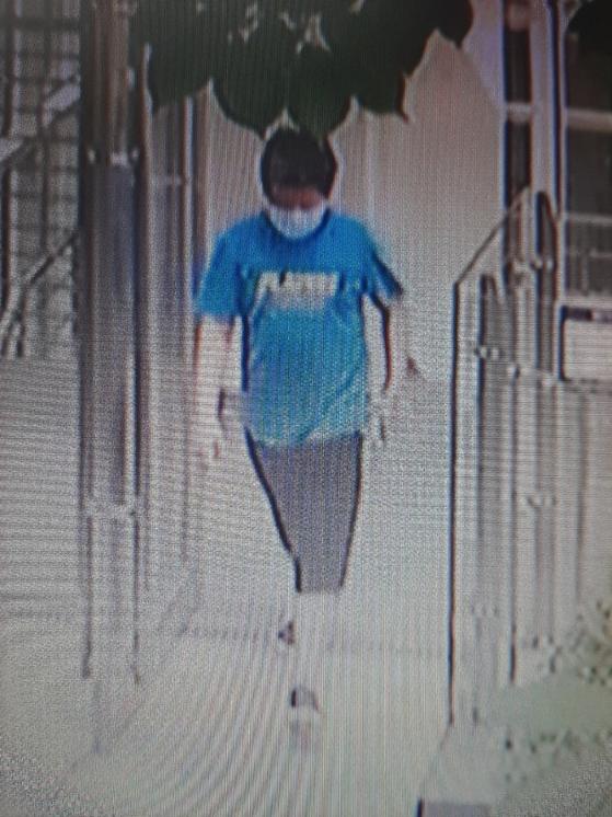 11세 이현준군. CCTV에 잡힌 모습. 경찰청 제공