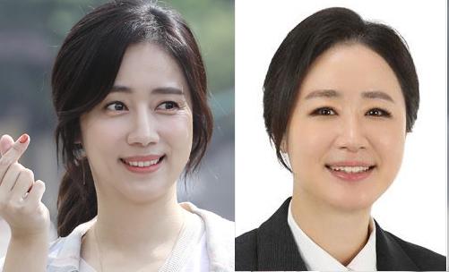 최송현 전 아나운서 (왼쪽). 윤석열 검찰총장이 부대변인으로 선임한 최지현 변호사. 사진 최 변호사 페이스북