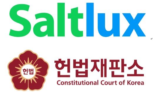사진-솔트룩스 로고(위)와 헌법재판소 로고(아래)