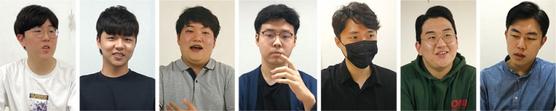 문재인 정부의 불공정과 내로남불에 분노한 청년 7명이 입을 열었다. 왼쪽부터 김민석(20세), 양은건(26세), 박준일(20세), 한상현(22세), 양준우(27세), 김부겸(20세), 노재승(37세)