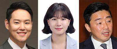 김한규, 박성민, 강훈식(왼쪽부터).